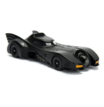 DC COMICS Batman 1989 Movie Batmobile Metals Die-cast Toy Car with Die-cast Batman Figure, Unisex, 1:24 Scale, 8 Years or Above, Black