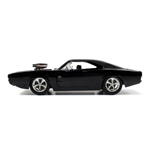 FAST & FURIOUS Furious 7 Dom's T1970 Dodge Charger R/T Die-cast Toy Muscle Car, Unisex, 1:24 Scale, 8 Years or Above, Black