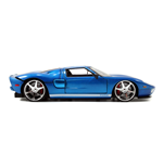 FAST & FURIOUS Furious 7 2005 Ford GT Die-cast Toy Sports Car, Unisex, 1:24 Scale, 8 Years or Above, Blue