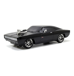 FAST & FURIOUS The Fast and the Furious Dom's 1970 Dodge Charger R/T Remote Control Toy Muscle Car, Unisex, 1:24 Scale, 6 Years or Above, Black