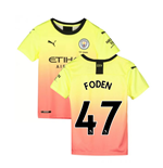 2019-2020 Manchester City Puma Third Football Shirt (Kids) (Foden 47)