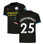 2019-2020 Manchester City Puma Away Football Shirt (FERNANDINHO 25)