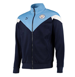 2019-2020 Manchester City Puma Iconic MCS Track Jacket (Peacot