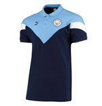 2019-2020 Manchester City Puma Iconic MCS Polo Shirt (Peacot)