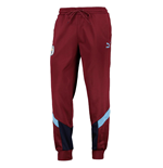 2019-2020 Man City Puma Iconic MCS Track Pants (Cordovan)