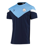 2019-2020 Man City Puma Iconic MCS Tee (Peacot)