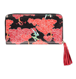 DISNEY Mulan & Mushu Magical Clouds All-over Print Zip Around Wallet Purse, Female, Multi-colour