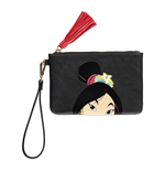 DISNEY Mulan Face Coin Purse, Female, Black