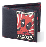 MARVEL COMICS Deadpool Did Someone Said Tascos Patch Bi-fold Wallet, Male, Black