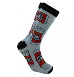 The Simpsons Duff Beer All Over Crew Socks