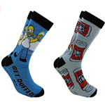 The Simpsons 2 Pack Crew Socks