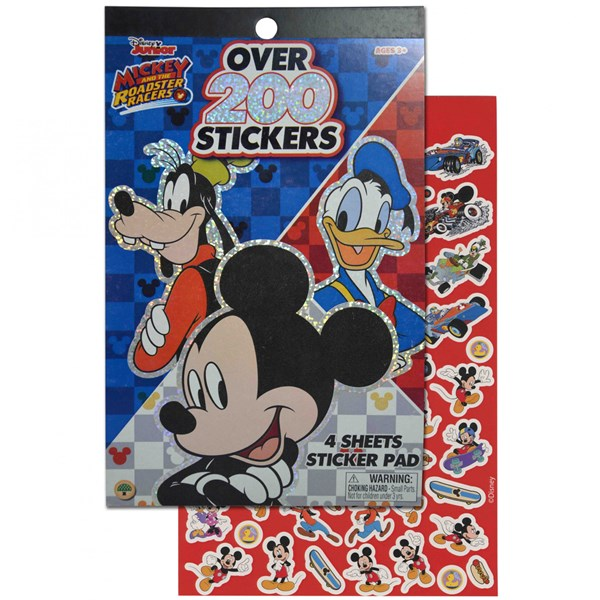 Mickey 4 Sheet Foil Cover 200+ Stickers
