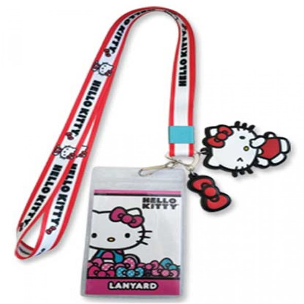 Hello Kitty ID Badge and Charm Lanyard
