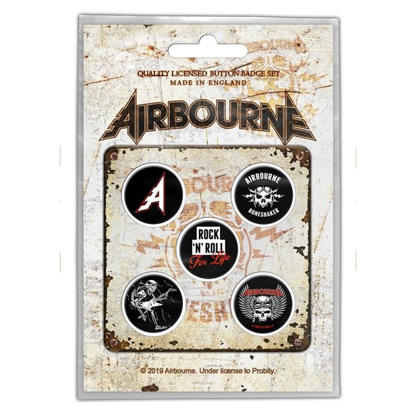 Airbourne Pin Boneshaker (button Badge SET)