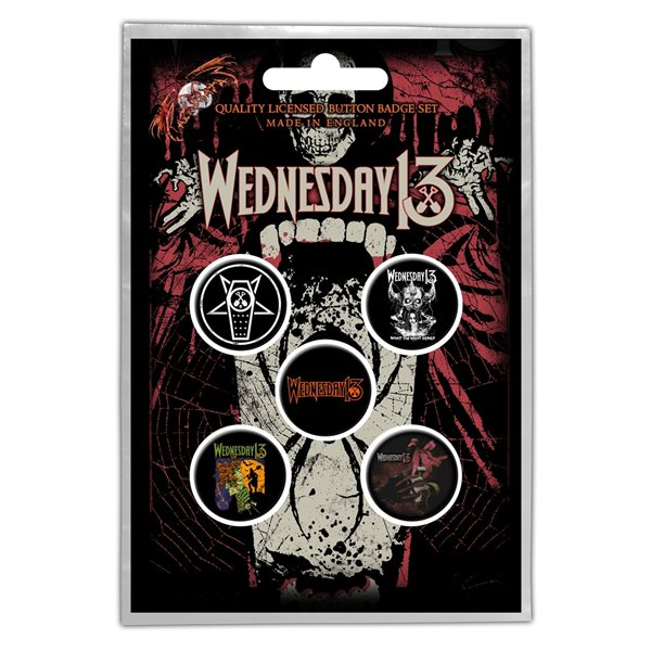Wednesday 13 Pin Condolences (button Badge SET)