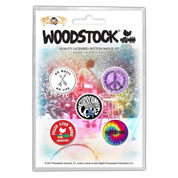 Woodstock Pin Surround Yourself With Love (button Badge SET)