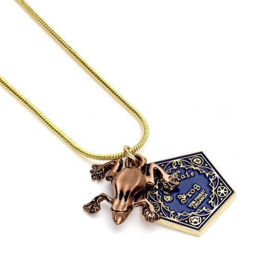 Harry Potter Gold Plated Necklace Chocolate Frog