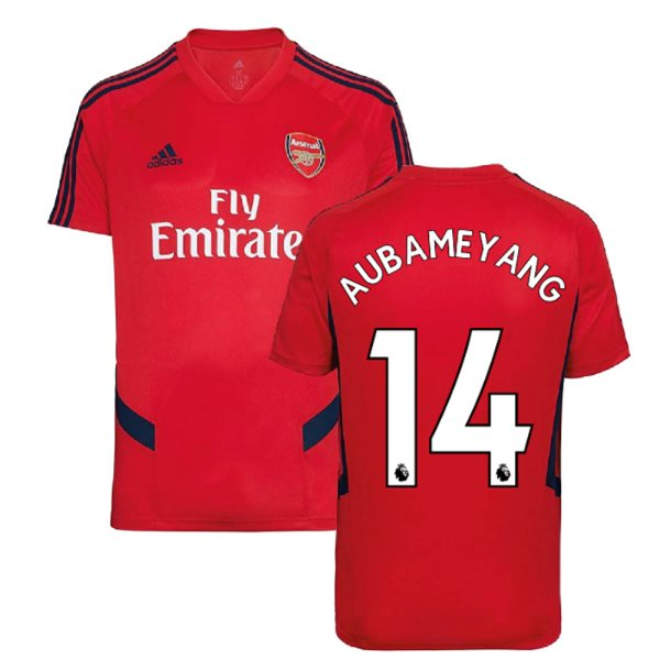 2019-2020 Arsenal Adidas Training Shirt (Red) (Aubameyang 14)
