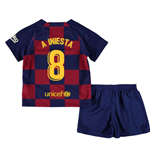 2019-2020 Barcelona Home Nike Little Boys Mini Kit (A INIESTA 8)