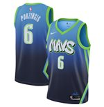 Men's Dallas Mavericks Kristaps Porzingis Nike Blue City Edition Swingman Jersey