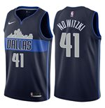Men's Dallas Mavericks Dirk Nowitzki Nike Navy Statement Edition Swingman Jersey
