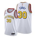 Men's San Francisco Warriors Stephen Curry Nike White Classic Edition Swingman Jersey