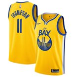 Men's Golden State Warriors Klay Thompson Nike Gold Statement Edition Swingman Jersey