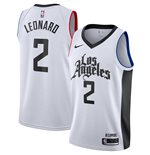Men's LA Clippers Kawhi Leonard Nike White City Edition Swingman Jersey