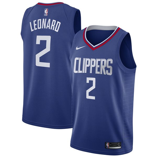 Men's LA Clippers Kawhi Leonard Nike Blue Icon Edition Swingman Jersey