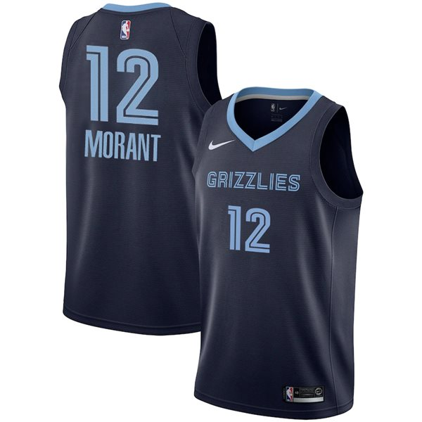 Men's Memphis Grizzlies Ja Morant Nike Navy Icon Edition Swingman Jersey