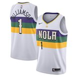 Men's New Orleans Pelicans Zion Williamson Nike White City Edition Swingman Jersey