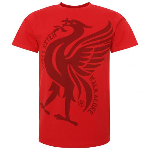 Liverpool FC Liverbird T Shirt Mens Red S