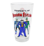 Batman Animated Property of Arkham Asylum Pint Glass