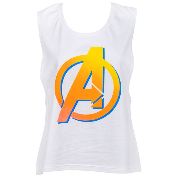 Avengers Orange Symbol Juniors Tank Top