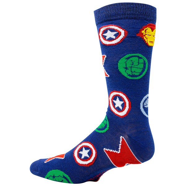 Avengers Repeating Symbols Crew Socks
