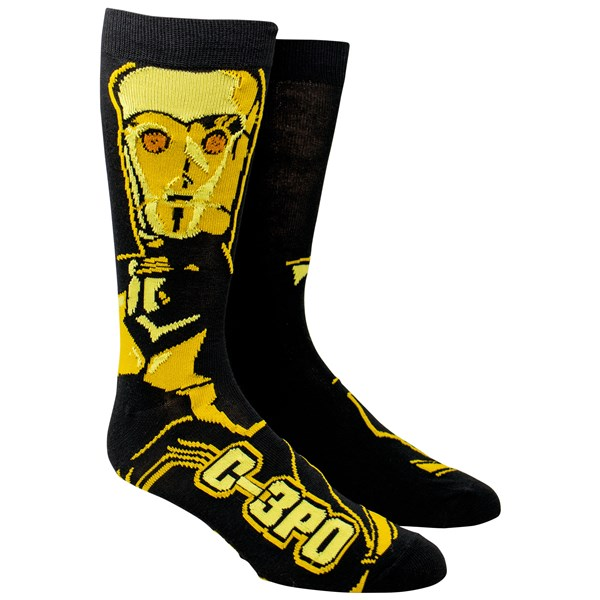 Star Wars C-3PO Character Crew Socks