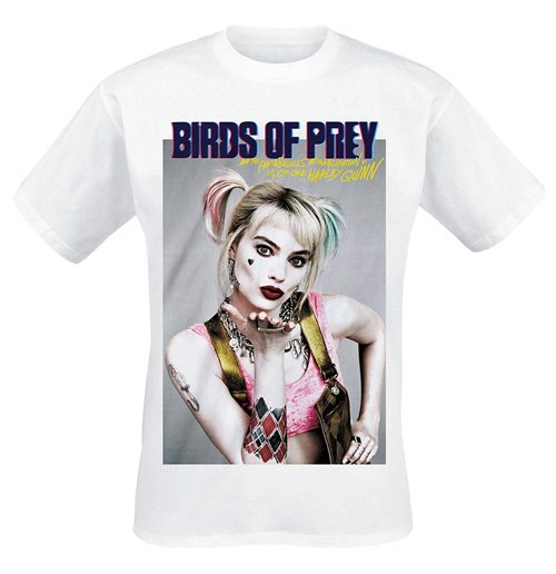 DC Comics: Birds Of Prey - Poster Style White T-shirt (Unisex)