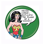 Wonder Woman Never Underestimate Button
