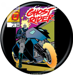 Ghost Rider Motorcycle Comic Cover Button
