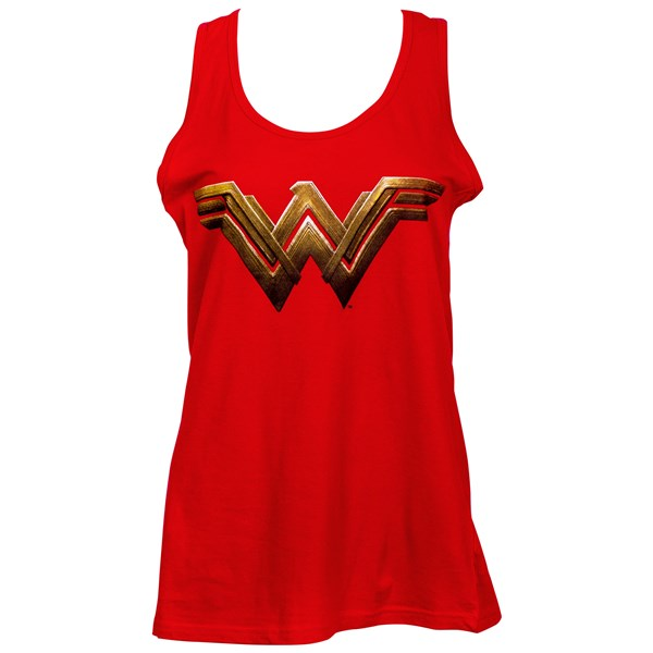 Wonder Woman Logo Women's Red Tank Top