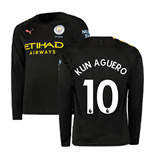 2019-2020 Manchester City Puma Away Long Sleeve Shirt (KUN AGUERO 10)