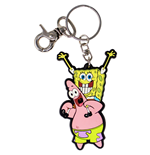 Nickelodeon SpongeBob SquarePants and Patrick Rubber Keychain