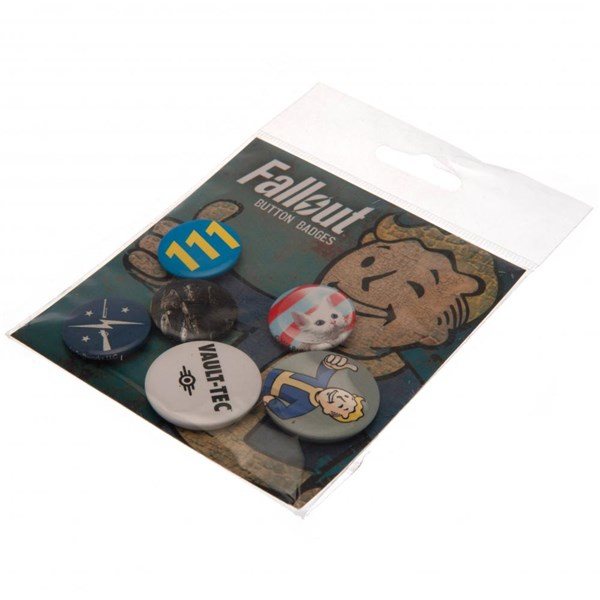 Fallout Button Badge Set Vault Boy