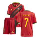 2020-2021 Belgium Home Adidas Mini Kit (DE BRUYNE 7)