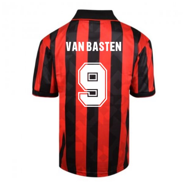 Score Draw AC Milan 1994 Retro Football Shirt (VAN BASTEN 9)