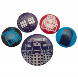 Doctor Who Button Badge Set