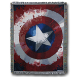 Captain America Shield Throw Blanket