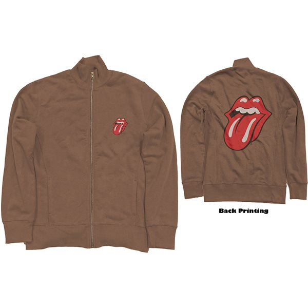 The Rolling Stones Unisex Track Top: Classic Tongue (Back Print)