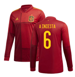 2020-2021 Spain Home Adidas Long Sleeve Shirt (A INIESTA 6)