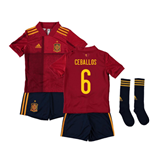2020-2021 Spain Home Adidas Mini Kit (CEBALLOS 6)